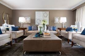 Jane Lockhart Beige & Blue Living Room Modern Living Room
