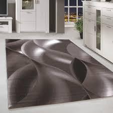 kurzflor teppich design schatten muster wohnzimmerteppich braun beige meliert ceres webshop
