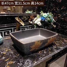 rechteck chinesische keramik waschbecken china waschbecken keramik zähler top keramik waschbecken badezimmer waschbecken