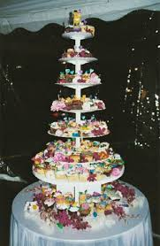 Creative Wedding Cake Made Out Of Cupcakes By Elegant Eating Long Island Caterer