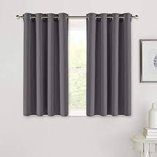 pony küche gardinen blickdicht vorhang blickdicht vorhänge schlafzimmer thermo gardinen licht blockieren ösenschal 2 stücke h 114 x b 132 cm