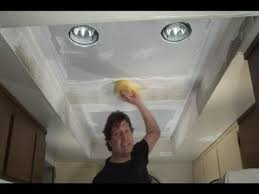 step 2 replace fluorescent lights w recessed lights
