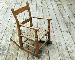 Rustic Wooden Rocking Chairs Vintage Chair Oak Wood Brown By