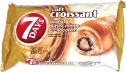 7 Days Soft Croissant Peanut Butter Creme Chocolate
