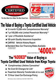 100 Toyota Truck Dealers Why Buy A Certified Used Vehicle From Kings Kings