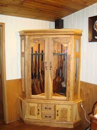 Wooden Gun Cabinet With Etched Glass by Woodworking Plans Wood Gun Cabinets Plans Free Download Wood Gun
