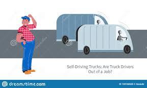 100 Truck Driver Career Autonomous Vs Vector Concept Stock Vector