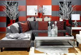 Black Grey And Red Living Room Ideas by Gray And Red Living Room Home Design