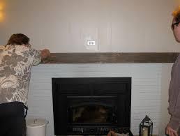 brick fireplace mantel shelf home design ideas