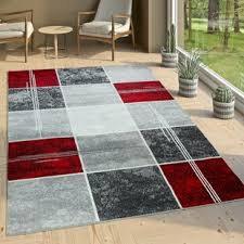 teppich aiyana in grau schwarz rot