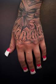 Grey Ink Queen Tattoo On Hand