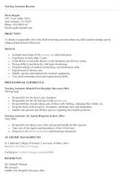 Certified Nurse Aide Resume Sample Nursing Assistant With Experience N Examples For Summary