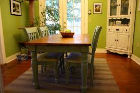Thursday August 18 2011 A Blue Farmhouse Dining Table