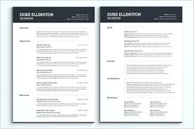 Two Page Resume Examples 2 Download Sample Multiple Free