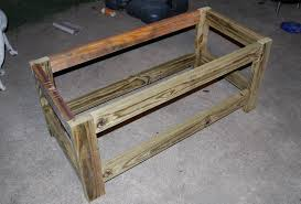 Free Plans To Build A Storage Bench by Ana White Beefed Up Outdoor Storage Bench Diy Projects