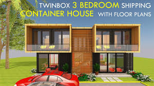 100 Amazing Container Homes Shipping Home 3 Bedroom Prefab Design With Floor Plans TWINBOX 1280