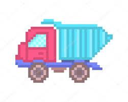 Pixel Art Toy Dump Truck Icon — Stock Vector © Ksuperksu #120476116