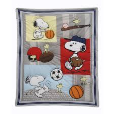 Snoopy Crib Bedding Set by Snoopy Family Bedding Bedding Queen