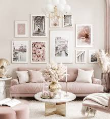 pink gallery wall summer posters flower prints