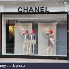 Rapturous Shop Window A Display Of The Chanel Fashion On Sloane Street