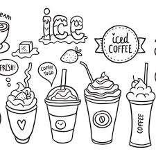 Iced Coffee Drawing