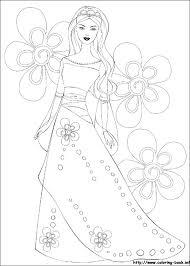 Barbie Princess Coloring Pages Printable