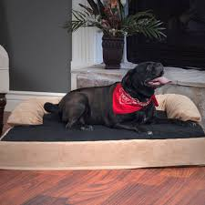 Bolster Dog Bed by Petmaker Orthopedic Memory Foam Pet Bed With Bolster Ebay