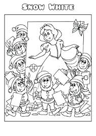 Snow White 2 Coloring Book Template