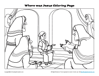 Your Children Will Have A Wonderful Time Coloring This Picture Of Jesus As Boy Talking With The Jewish Religious Leaders At Temple