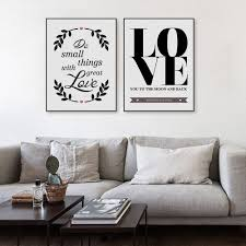 nordic minimalistische schwarz weiß quotes a4