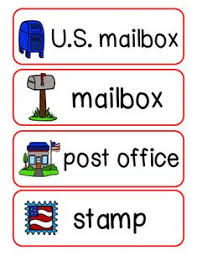 Post Office Writing Theme Word Wall Cards By Clip Art Carrie