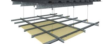 duo exposed grid ceiling system for plasterboard or acoustic tiles
