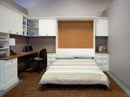small bedroom with shelves and led lights murphy bed the