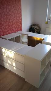 example of elevated platform bed with under bed storage add a