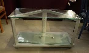 tv tisch fernsehtisch board rack glastisch rollen modern