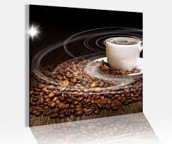 acrylglasbild 50x50cm kaffee tasse coffee bohnen küche glasbild bilder acrylglas acrylglasbilder wandbild 14c215 wandtattoos und leinwandbilder