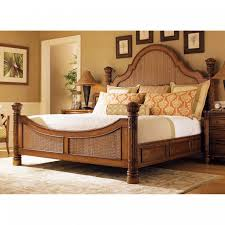 Amazing Master Bedroom Decor With Classy Large Pottery Barn Seagrass Headboard Natural Wooden Bed Frame