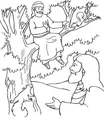 Full Image For Bible Coloring Pages Jesus Teaching Of And His Disciples Zacchaeus
