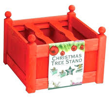 Live Tree Stand Large Red Stain Stands Christmas Best Table Top Trees Electric Rotating