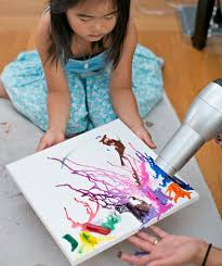 Melt Crayons To Create Beautiful Abstract Art Paint Rocks Or Dive Into Cool Wax Resist Projects With Your Favorite