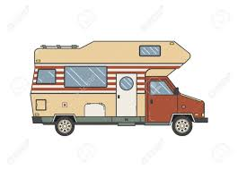 100 Truck Camper Camping Trailer Family Caravan Traveler Outline
