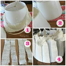 DIY Burlap Lampshades In 4 Easy Steps