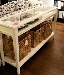 creative of sofa tables with storage with hemnes console table