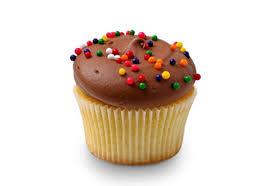 Milk chocolate birthday cupcake