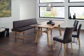 tischgruppe calli bank mit holzkufen tisch und 2 stühle wildeiche massiv