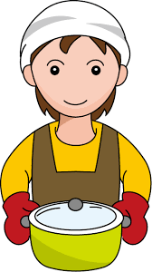 Clipart Boy Play Cooking Food