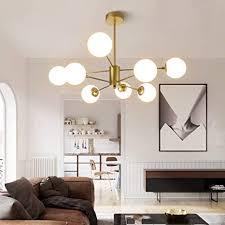 modern kronleuchter magic bean wohnzimmer pendelleuchte glas kugel hängele e27 le metal weiß molekül lenschirm hängeleuchte büro küche