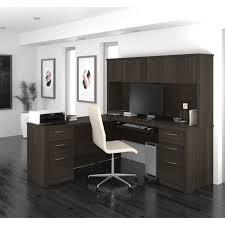Bestar L Shaped Desk by Bestar Embassy 71 Inch L Shaped Desk With Hutch 60893