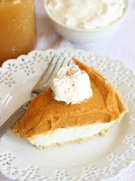 Pumpkin Pie With Pecan Praline Topping by Double Layer No Bake Pumpkin Cheesecake
