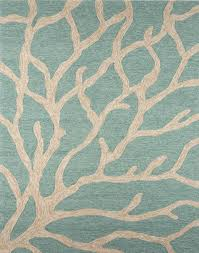 Great Nautical Outdoor Rugs Coastal Lagoon Coral Teal Latte Indoor